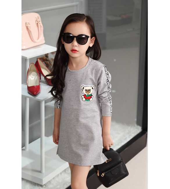 Dress Love Bear Gray